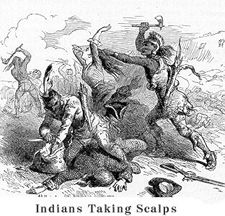 Indians taking scalps