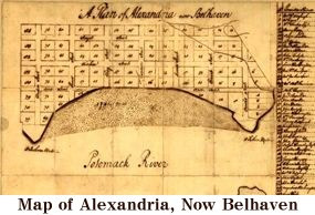 Map of Alexandria (now Belhaven)