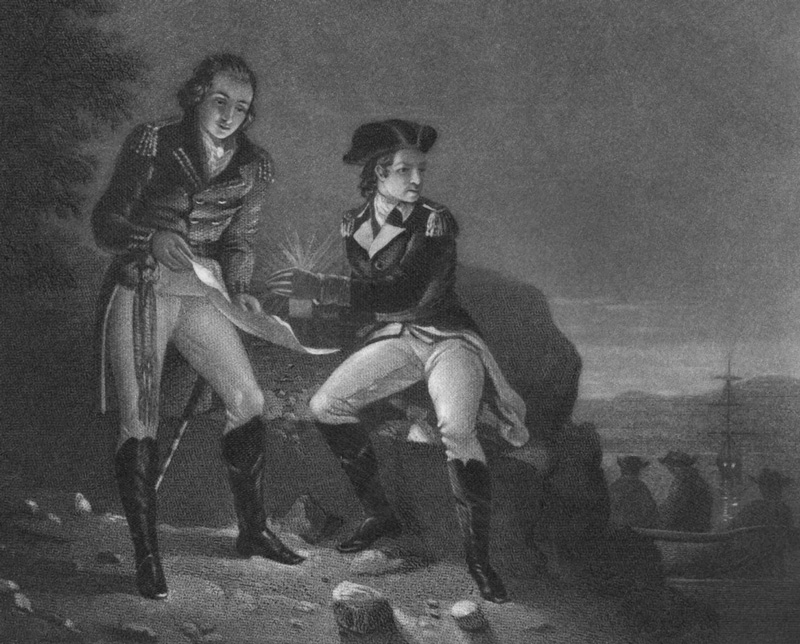 Meeting between Benedict Arnold and John Andre