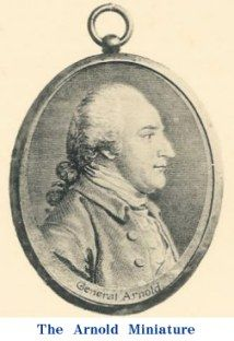 Miniature engraving of Benedict Arnold