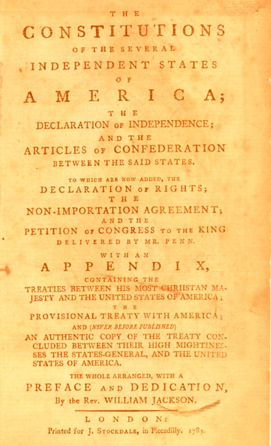 articles connected with confederation ahead of time america