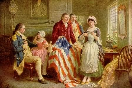 Betsy Ross, seamstress who sewed the first American flag