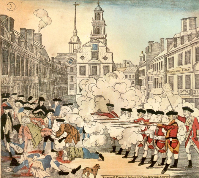 Events Boston Massacre Images Archiving Early America