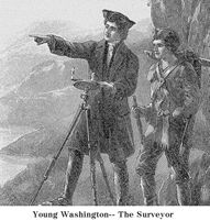 Young George Washington, the surveyor