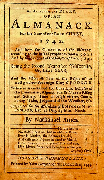 almanac for the year 1742