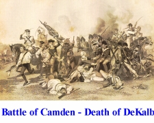Battle of Camden - Death of DeKalb