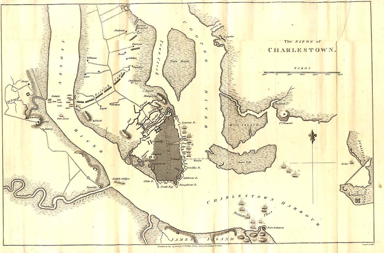 Map of the Siege of Charlestown