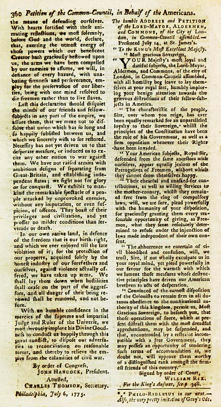 Page 4 of the Declaration of Arms