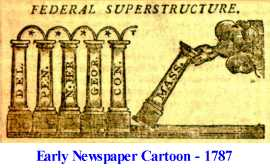 Colonial newspaper cartoon from 1787
