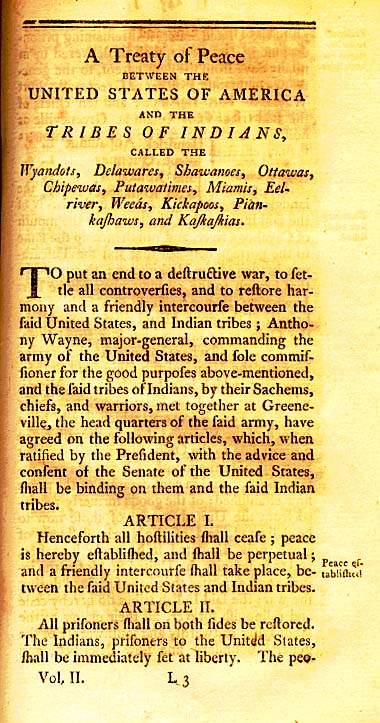 The Treaty of Greenville Page 1
