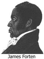 James Forten, captured by the British, said, 'I have been taken prisoner for the liberties of my country and never will prove a traitor to her interest.'