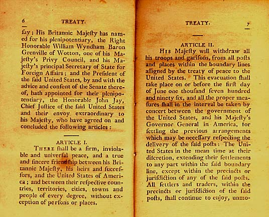 an analysis of jays treaty The jay treaty arrived on washington's desk in march 1795 it was a very one-sided agreement that favored great britain there was no mention of stopping impressment, yet british imports were given most-favored-nation status reciprocation was not an overall theme in the treaty.