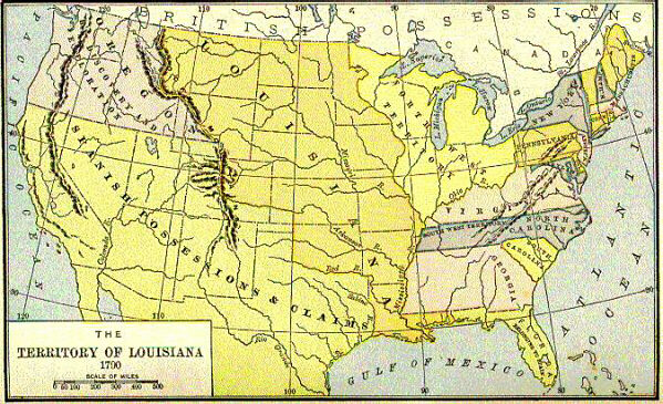 Map Of Louisiana Territory.1790 Map Of The Louisiana Territory Archiving Early America