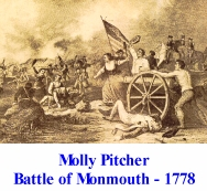 Molly Pitcher Battle of Monmouth - 1778