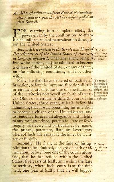 Naturalization act p1