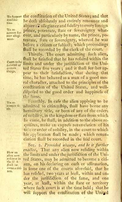 naturalization act of 1790 Definitions of naturalization act of 1790, synonyms, antonyms, derivatives of naturalization act of 1790, analogical dictionary of naturalization act of 1790 (english.