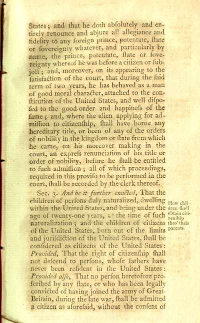 Naturalization Act 1795