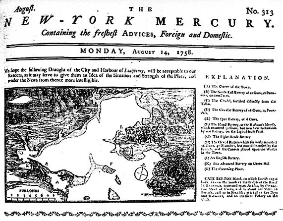 Newspaper Coverage of the English and French War For Control of North America