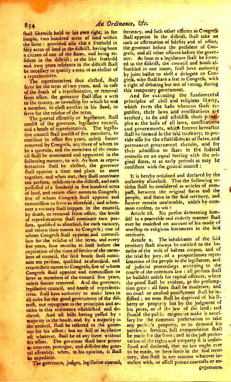 Page 2 of the original Northwest Ordinance