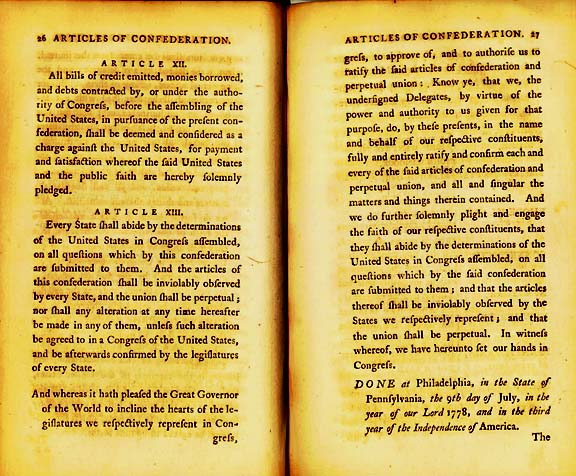 The Articles of Confederation Page 9