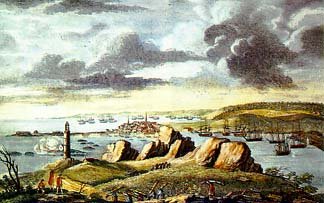 Louisbourg, North America city was besieged in 1758
