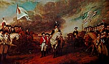 The surrender of Cornwallis