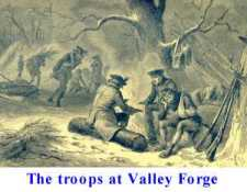 Troops at Valley Forge