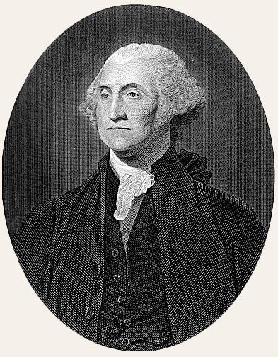 Portrait of George Washington, First President of the United States