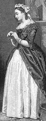 Martha as the widow Custis