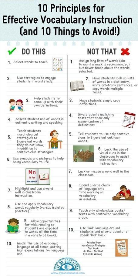 Tips for Effective Vocabulary Instruction